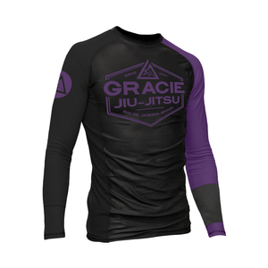 Purple Rank Gracie Rashguards (Men)