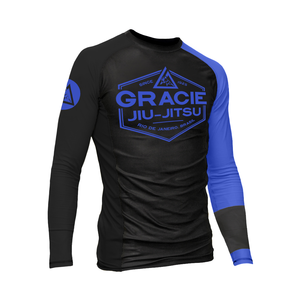 Blue Rank Gracie Rashguards (Men)
