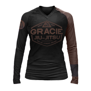 Brown Rank Gracie Rashguards (Women)