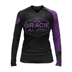 Gracie Purple Rank Long-Sleeve Rashguard (Women)
