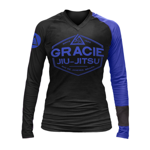 Gracie Blue Rank Long-Sleeve Rashguard (Women)