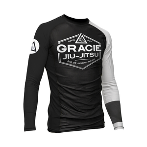 White Rank Gracie Rashguards (Men)