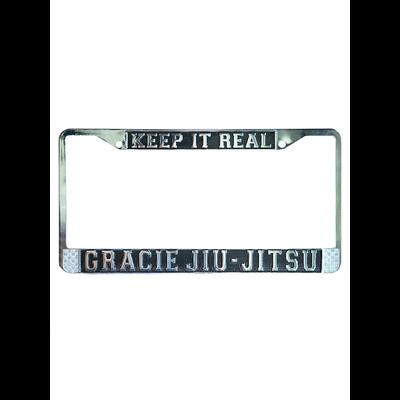 """Keep it Real"" Gracie Jiu-Jitsu Chrome License Plate"