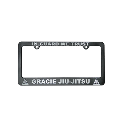 """In Guard We Trust"" License Plate Frame"