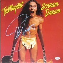 Ted Nugent Scream Dream Signed Record Album LP Certified Authentic PSA/DNA COA