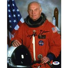 John Glenn NASA Astronaut Excellent Signed 8x10 Photo Certified Authentic PSA/DNA COA