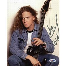 Jason Newsted 'Metallica' Signed 8x10 Photo Certified Authentic PSA/DNA COA