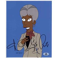 Nichelle Nichols The Simpsons Signed 8x10 Photo Certified Authentic Beckett BAS COA