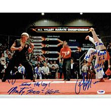 Karate Kid Cast Signed 11x14 Photo Certified Authentic PSA/DNA COA