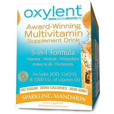 Vitalah Oxylent, Sparkling Mandarin, 30 6g Packets
