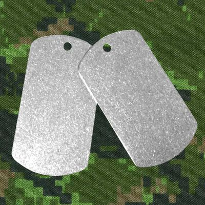Set of Two (2) Titanium Dog Tags