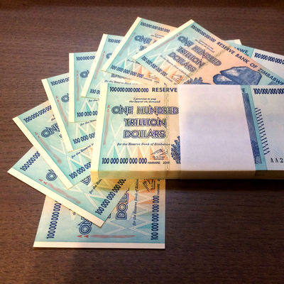 $100 Trillion Dollar Zimbabwe Notes
