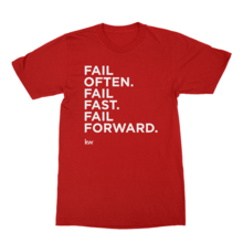 Fail Often - red tee