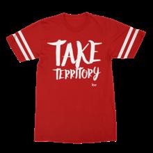 Take Territory - red football tee