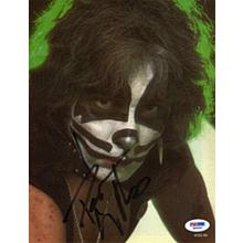 Peter Criss Kiss Signed 8x10 Photo Certified Authentic PSA/DNA COA