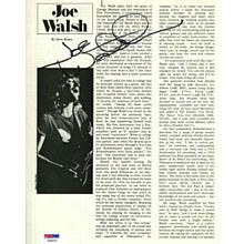 Joe Walsh The Eagles Signed 8x10 Magazine Page Certified Authentic PSA/DNA COA