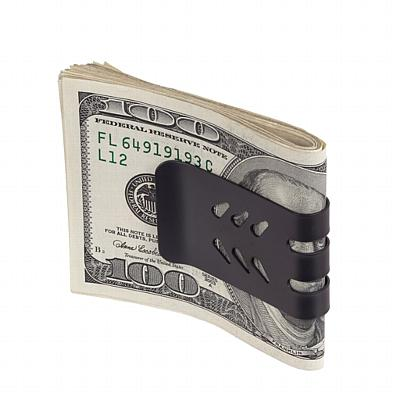 Black Leather Card Holder w/ main pocket, auxiliary pocket for money clip, cash, etc. plus 2 pockets for freq. used cards.