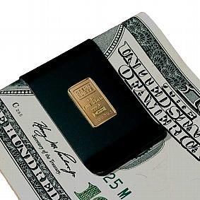 Gold Ingot Mounted on Titanium Money Clip
