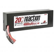 Reaction 7.4V 4000mAh 2S 20C LiPo Hard Case: EC3