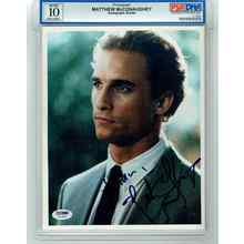 Matthew McConaughey Encapsulated Grade 10 Gem Mint Signed 8x10 Photo Certified Authentic PSA/DNA COA
