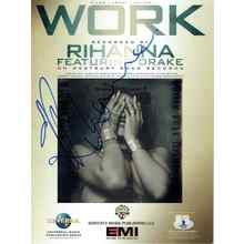 Rihanna 'Work' Signed Sheet Music Certified Authentic Beckett BAS COA