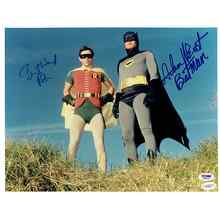Batman Cast Adam West and Burt Ward Signed 11x14 Photo Certified Authentic PSA/DNA JSA COA