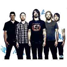Foo Fighters Group Signed 11x14 Photo Certified Authentic Beckett BAS COA