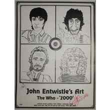 John Entwistle The Who Art Poster Certified Authentic PSA/DNA COA