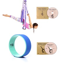 Purple Yoga Trapeze® and Blue Wonder Wheel Bundle