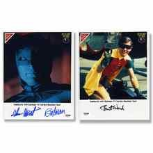 Batman Cast Adam West and Burt Ward Nabisco Signed 8x10 Photos Certified Authentic PSA/DNA COA