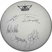 Aerosmith Drumhead Signed Certified Authentic PSA/DNA COA