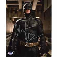 Christian Bale Batman 'Dark Knight Rises' Signed 8x10 Photo Certified Authentic PSA/DNA COA