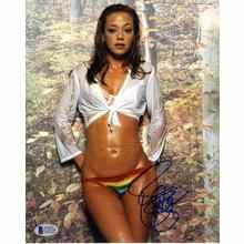 Leah Remini Wet Panties and Bra Signed 8x10 Photo Certified Authentic Beckett BAS COA
