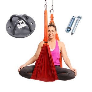 Orange Yoga Trapeze and Ceiling Hooks Bundle