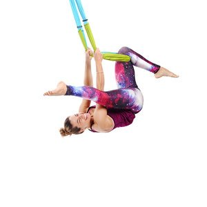 Free USA Shipping! Yoga Trapeze - Aqua with Free DVD Tutorials