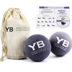 Yoga Massage Balls x2 | Hurts So Good!® by YOGABODY® | Natural Rubber Creates Human-Like Deep Tissue Massage Experience on Soft Tissues with Free DVDs