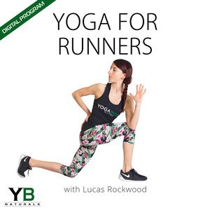 YOGABODY Yoga for Runners|Cork Yoga Block| Super Yoga Strap & Mat Carrier BUNDLE