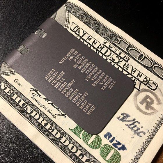 The BADASS™ Titanium Money Clip Series