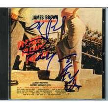 James Brown Signed CD Cover Certified Authentic Beckett BAS COA