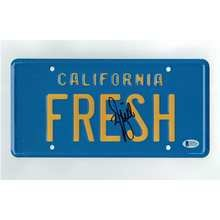 Will Smith Fresh Prince of Bell Air Signed License Plate Certified Authentic Beckett BAS COA