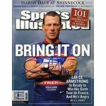 Lance Armstrong Autographed Sports Illustrated Signed Magazine Certified Authentic Beckett BAS COA
