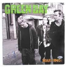 Green Day Warning Signed by all 3 Record Album LP Certified Authentic Beckett BAS COA