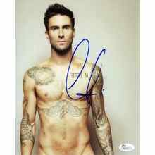 Adam Levine Shirtless Maroon 5 Signed 8x10 Photo Certified Authentic JSA COA