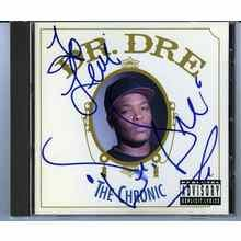 Dr. Dre Signed CD Cover Certified Authentic JSA COA