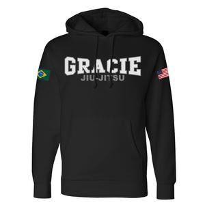 Retro Gracie Flag Hoodie (Black)