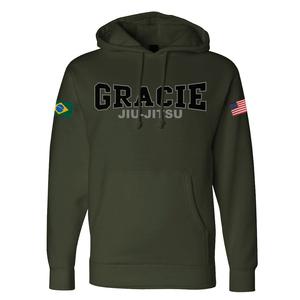 Retro Gracie Flag Hoodie (Army)