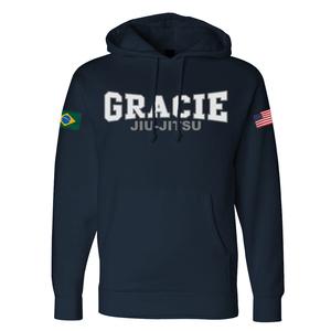 Gracie Jiu-Jitsu Flag Hoodie (Kids)