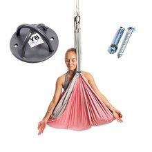 Baby Pink Yoga Trapeze and Ceiling Hooks Bundle