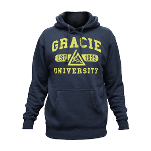 Gracie University Navy Hoodie
