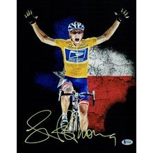 Lance Armstrong Autographed Signed 11x14 Photo Certified Authentic Beckett BAS COA